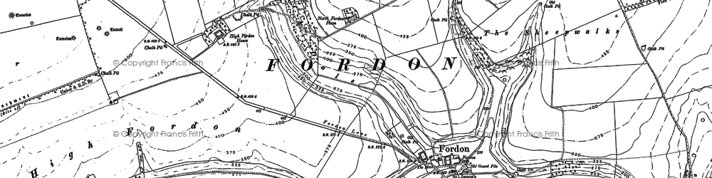Old map of Lang Dale in 1888
