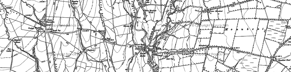 Old map of Westmoor in 1893