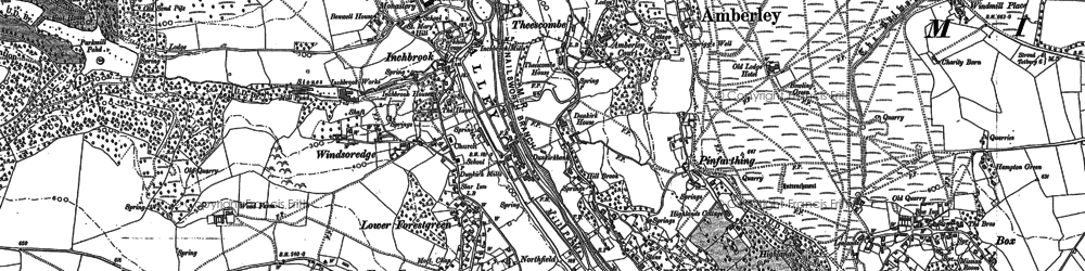 Old map of Windsoredge in 1882