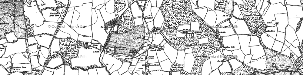 Old map of Forest Green in 1895
