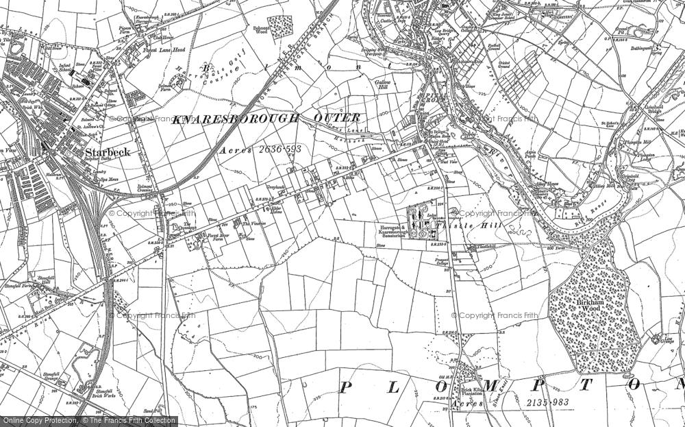 Old Maps of Harrogate Knaresborough Ringway Footpath