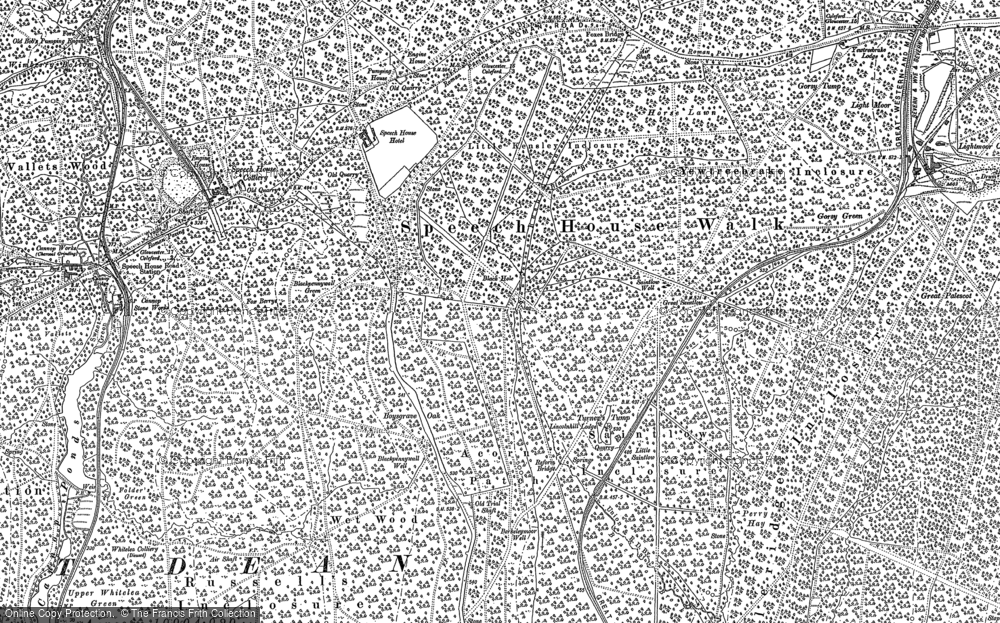 Old Map of Forest of Dean, 1878 - 1901 in 1878