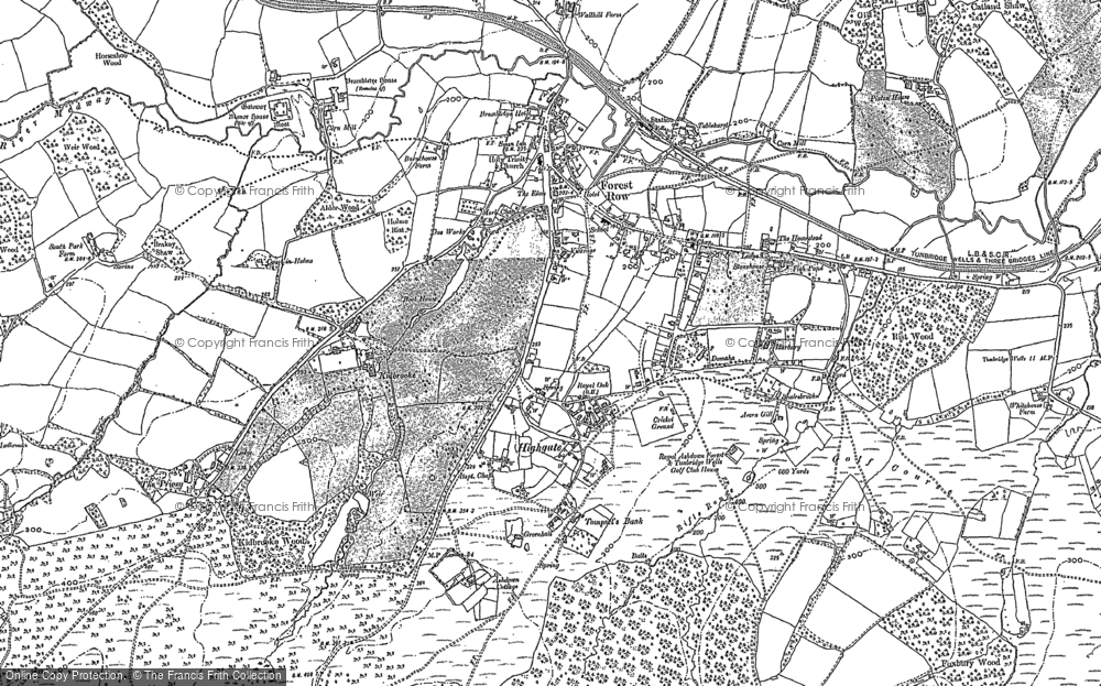 Map of Forest Row, 1897 - 1908