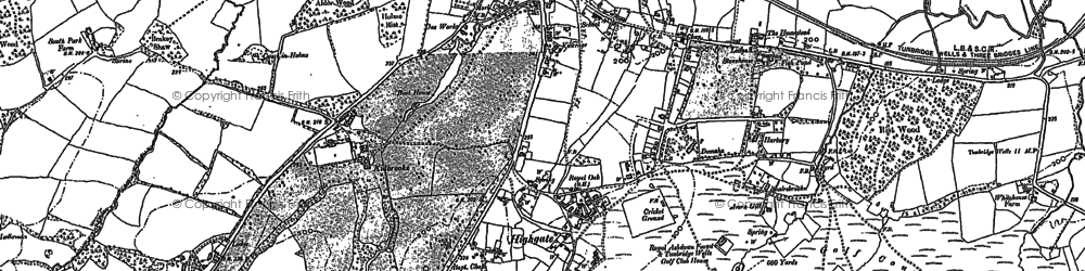 Old map of Tompset's Bank in 1897