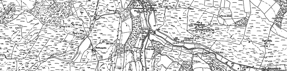 Old map of Allt-cae-melyn in 1886