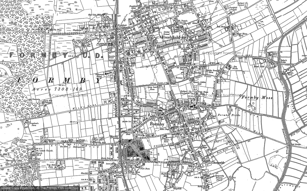 Old Map of Formby, 1906 in 1906