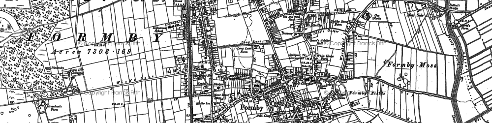 Old map of Formby in 1906