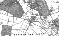 Old Map of Fornham All Saints, 1883 - 1884