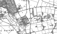 Old Map of Fornham St Martin, 1883 - 1884