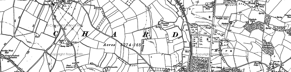 Old map of White Gate in 1901