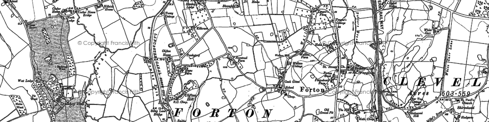 Old map of White Carr in 1910