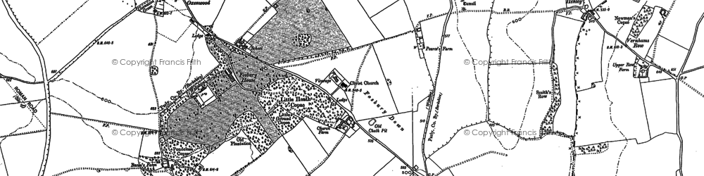 Old map of Fosbury in 1909
