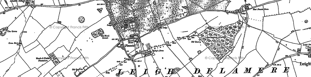 Old map of Foscote in 1919
