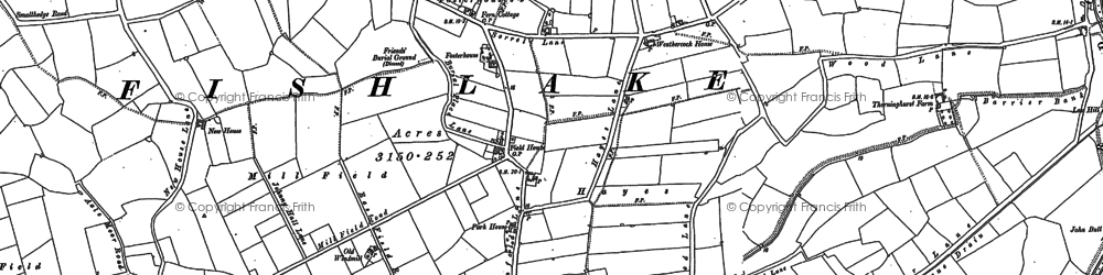 Old map of Wormley Hill in 1891