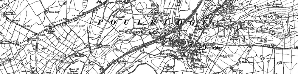 Old map of Alkincoats in 1893