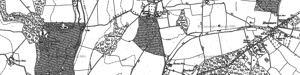 Old map of Terriers in 1897