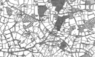 Old Map of Four Elms, 1907