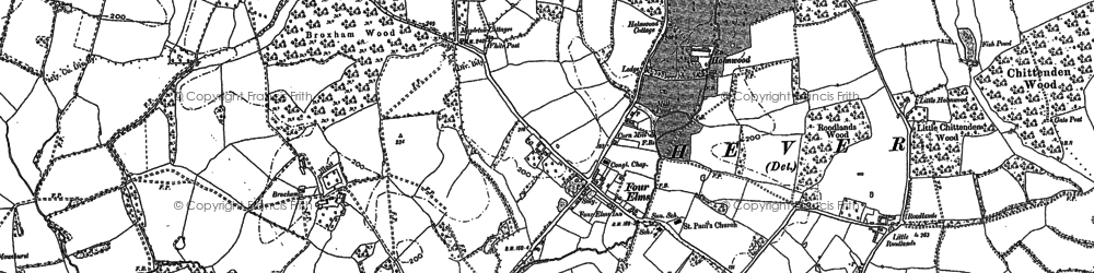 Old map of Four Elms in 1907