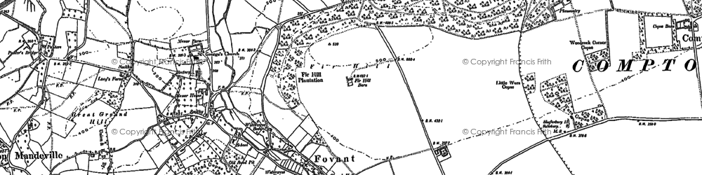 Old map of Fovant in 1899