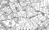 Old Map of Fowley Cross, 1884