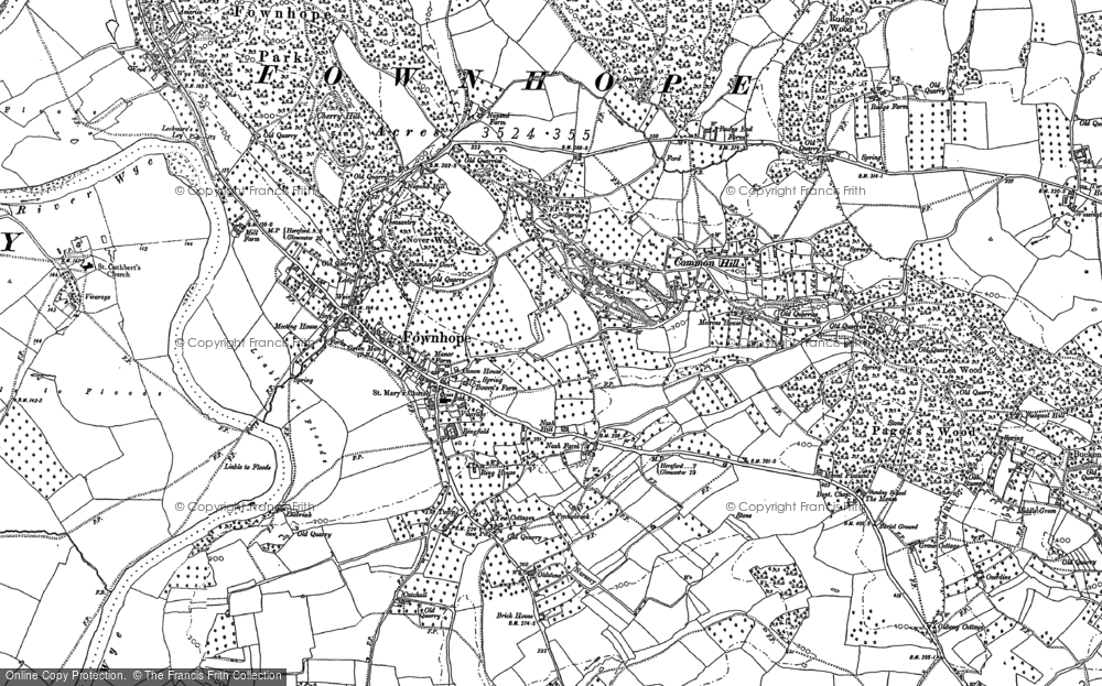 Old Map of Historic Map covering Wood View in 1887