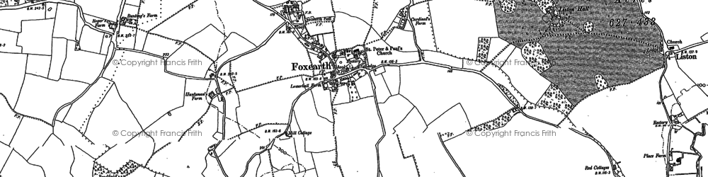 Old map of Foxearth in 1885