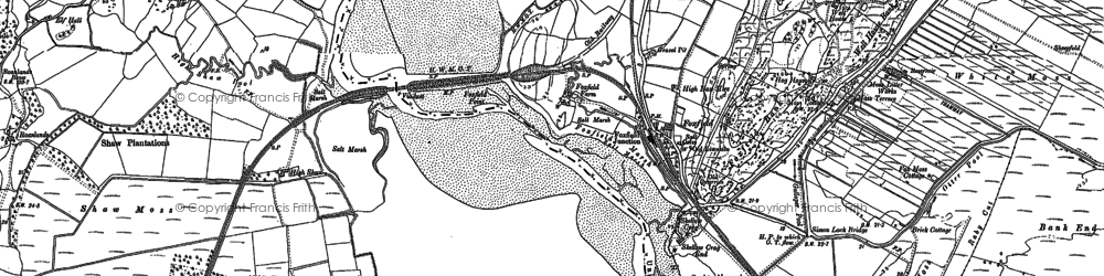 Old map of Foxfield in 1911