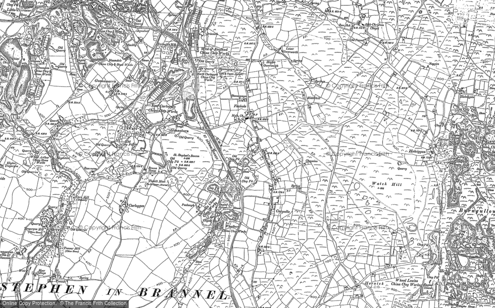 Map of Foxhole, 1879 - 1906