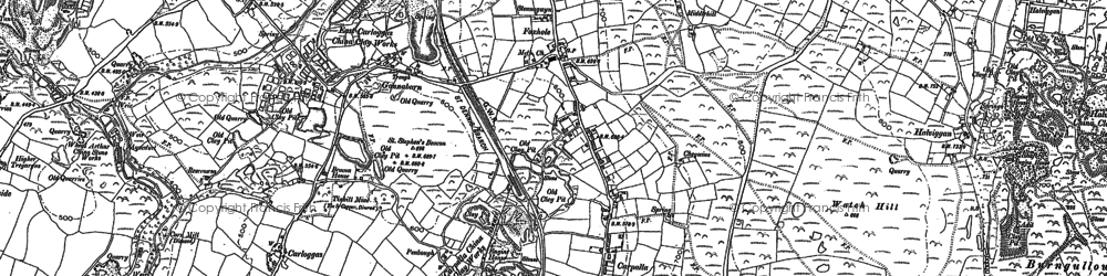 Old map of Carpalla in 1879