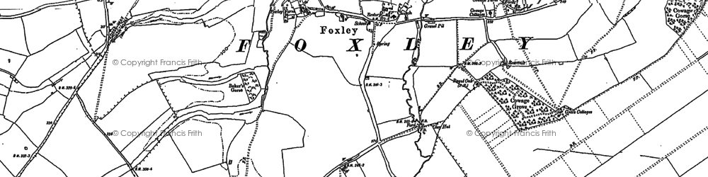 Old map of Foxley in 1899