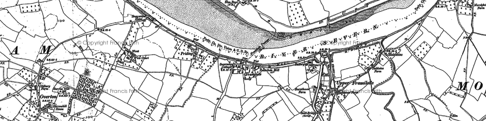 Old map of Whitminster Ho in 1880