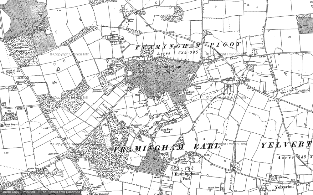 Old Maps of Framingham Pigot Francis Frith