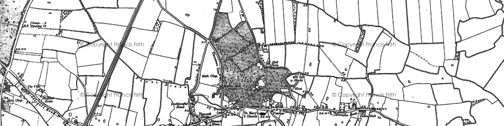 Old map of Wybert's Castle (Earthwork) in 1887