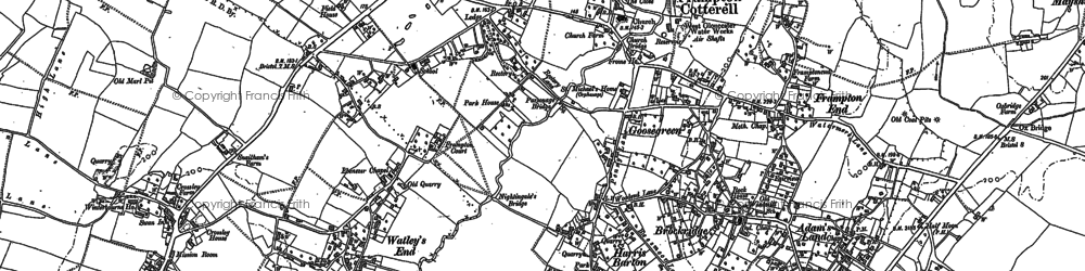 Old map of Frampton Cotterell in 1879
