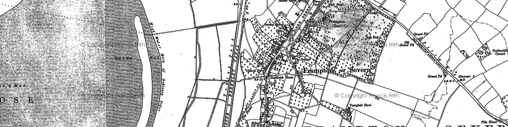 Old map of Frampton On Severn in 1879