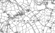Old Map of Framsden, 1883 - 1884