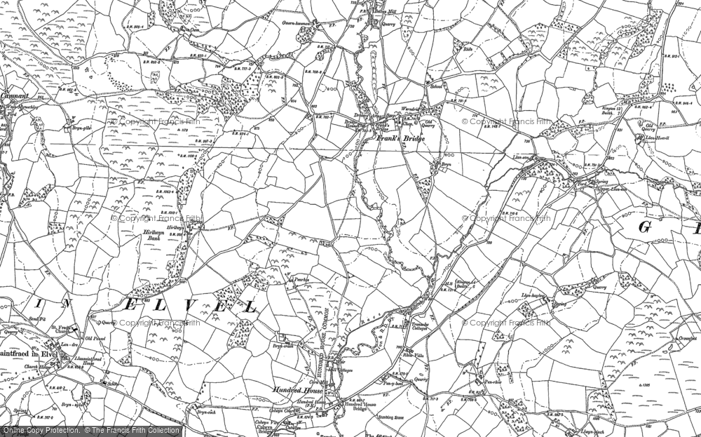 Old Map of Historic Map covering Allt-y-Coryn in 1887