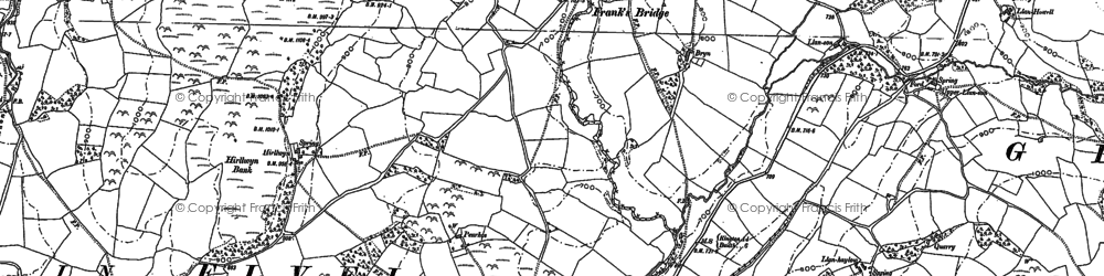 Old map of Allt-y-Coryn in 1887