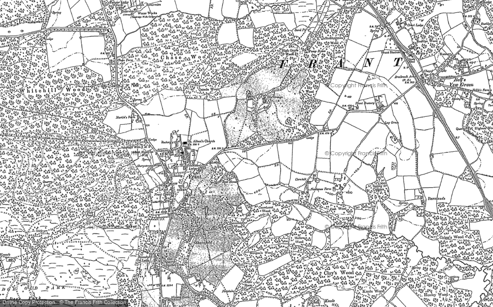 Old Map of Historic Map covering Lightlands in 1897
