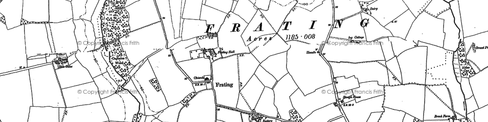 Old map of Balls Green in 1896