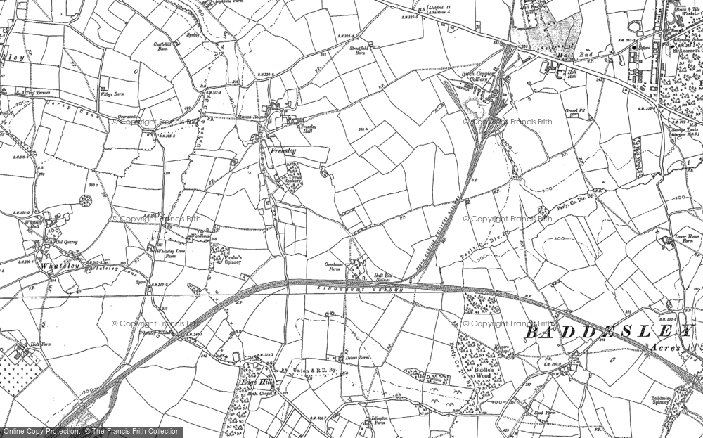 Old Map of Freasley, 1883 - 1901 in 1883