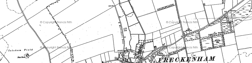 Old map of Lee Brook in 1900