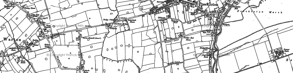 Old map of Freckleton in 1892