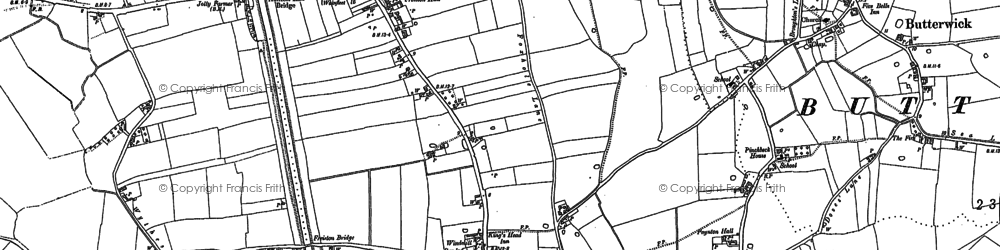 Old map of White Loaf Hall in 1887