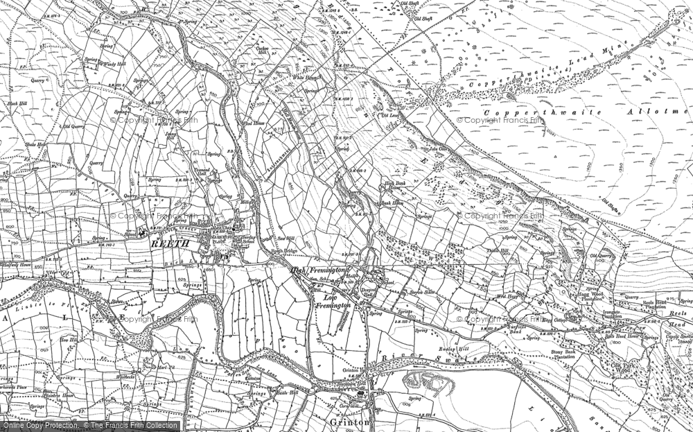 Old Map of Fremington, 1891 in 1891