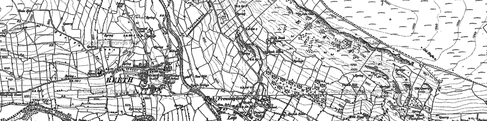 Old map of Fremington in 1891