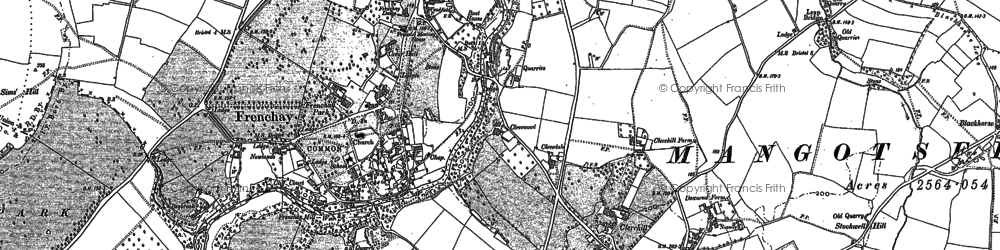 Old map of Frenchay in 1881