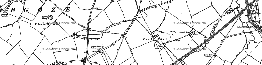 Old map of Freshbrook in 1899