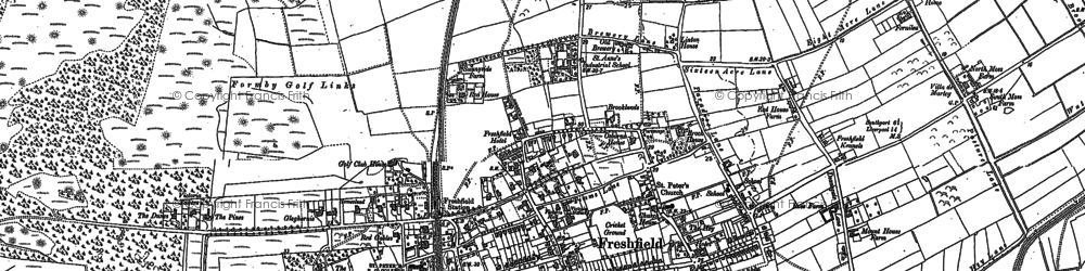 Old map of Woodvale Airfield in 1906
