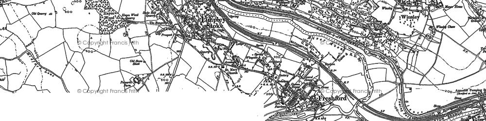 Old map of Freshford in 1902